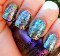 The Polished Mommy: Bohemian Needle drag nail art.