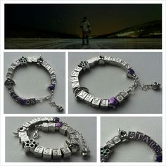 NO darkness - NO stars quote bracelet