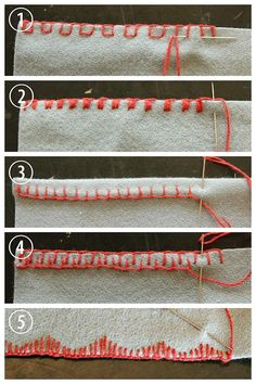 DIY 5 Blanket Stitch Variations and Tutorials from coletterie here. I post a lot of DIYs that use blanket stitch from clothing using fleece ...
