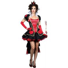 Deluxe Queen of Hearts Costume  Small  Dress Size 46 >>> You can find out more details at the link of the image.
