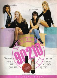 Beverly Hills, 90210 18 Beauty Product Ads From The That Will Make You Feel Nostalgic Beverly Hills 90210, Bervelly Hills, Mtv, Fashion Brenda, Love The 90s, Jennie Garth, Retro Makeup, 1990s Makeup, Grunge