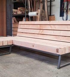 Mooie loungeset voor buiten | Meubelmakerij | Houtkwadraat | Stoer spul Bench Designs, Garden Seating, Porch Swing, Outdoor Furniture, Outdoor Decor, Woodworking Projects, Sweet Home, Home Decor, Stools