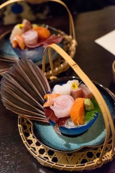 DREAMY SASHIMI - just one of 7 courses in a traditional kaiseki meal at Yoichi's in Santa Barbara (photo cred: Aron Ives)