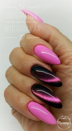 Nails play an eye-catching role in women's images. Beautiful nail designs make people happy and increase their personal charm. Fine manicured nails make people delicate and beautiful. If you want to make your nails beautiful and memorable, you can t Cat Eye Nails Polish, Cat Nails, Pink Nails, Matte Pink, Stylish Nails, Trendy Nails, Acrylic Nail Designs, Nail Art Designs, Nails Design
