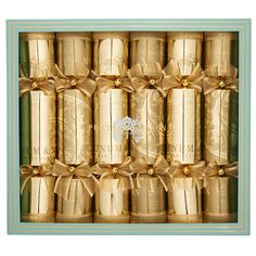 Fortnum's Golden Christmas Crackers, Set of Six