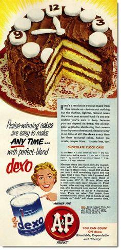 Cake time, 1952.