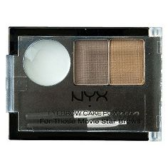 Nyx Cosmetics Eyebrow Cake Powder Blonde dupe of Anastasia brow powder