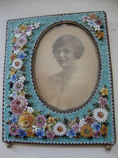 vintage micro mosaic photograph frame...I have one that my mother gave me, with a picture of her in it....so tiny and delicate......m
