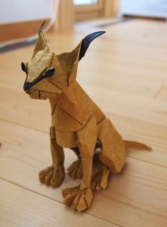 Origami Cat, Origami Animals, Paper Art, Paper Crafts, Caracal, Oragami, Paper Folding, Lace Patterns, Popup