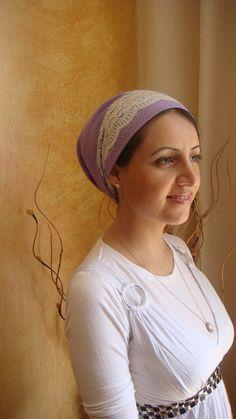 Elegant & comfi unique cotton tichel headscarf no need to wrap just tie in the back