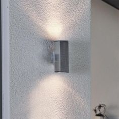 Wandleuchte Design Wandstrahler Chrom Flurlampe Leuchte