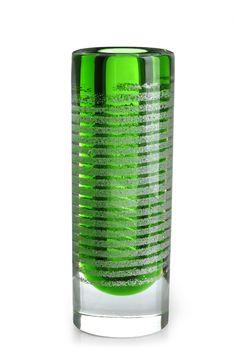 A Large Frantisek Vizner for Skrdlovice Mica Cylinder Vase