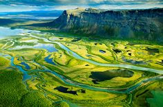 A picture taken from Skierfe - a mountain in Sarek National Park, Sweden