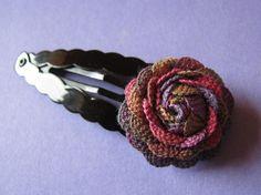 Ric RAC Flower Tutorial | ric rac flower hairclip i made this using a wonderful tutorial here ...