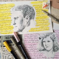 Hi there, last guest post from Liz of @tuccicursive! To inspire you to write a letter for #nationalletterwritingmonth, I am featuring some of my lettering and envelope art.  Renown author, F. Scott Fitzgerald composed a sweet letter of advice to his daughter Scottie. He lists the many things NOT to worry about including boys, disappointments, pleasures, mosquitoes, triumph... Instead he tells her to worry about efficiency and horsemanship, he tells her about believing that life itself is the…