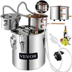 Moonshine Still Plans, Copper Moonshine Still, Moonshine Alcohol, Wine Temperature, Pot Still, Bottle Rack, Copper Tubing, Wine Making, Steel Water