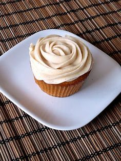 Baked Perfection: Brown Butter Pumpkin Cupcakes with Cinnamon Cream Cheese Frosting; baked this using gluten free rice flour, INCREDIBLE. never tasted a gluten free cupcake that didn't take gluten free, i'm in love <3