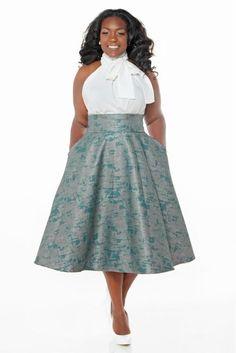 JIBRI High Waist Swing Skirt