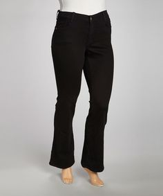 Another great find on #zulily! Black Boot Cut Jeans - Plus #zulilyfinds