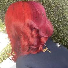 Pink And Orange Hair, Dark Pink Hair, Light Red Hair, Magenta Hair, Dyed Red Hair, Hair Color Pink, Hair Color For Black Hair, Hair Colors, Pressed Natural Hair