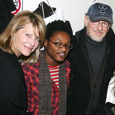 """With a blended family of 7 kids – including adopted son Theo, 26, & daughter Mikaela George, 19 – Steven Spielberg & Kate Capshaw make a point of helping others. One of their favorite charities: the Children's Action Network, which they helped found in 1990 to, in part, bring awareness to fostering and adoption. """"Children need a voice,"""" Capshaw once said. """"And I can be very loud."""""""