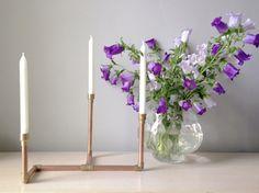 DIY-Anleitung: Kerzenständer aus Kupferrohr herstellen via DaWanda.com