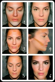 Great tutorial on simplified contouring with drugstore makeup! #beauty #contouring