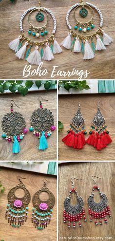 Boho Earrings Big Earrings Crystal Earrings Flower Earrings Colorful Earrings Chandelier Earrings Long Earrings Boho Jewelry Gift for Her tassel earrings statement earrings #bohojewelry #bohochic #earrings #jewelry #tasselearrings #bohostyle