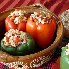 These Slow Cooker Stuffed Peppers are perfect as a side or as a meatless main dish. This cost effective and healthy recipe is one to come back to time and time again...