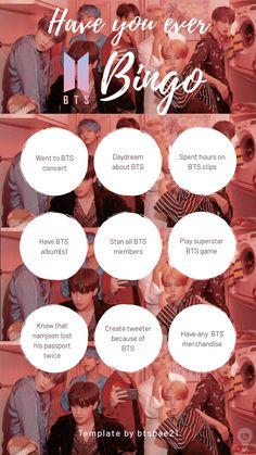 Bts Quiz Game, Game Bts, Bingo Template, Templates, Bts Angst, Instagram Story Questions, Bts Texts, Bts Book, Bts Playlist
