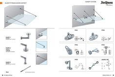Glass Canopy Fittings, Glass Canopy, Building Hardware