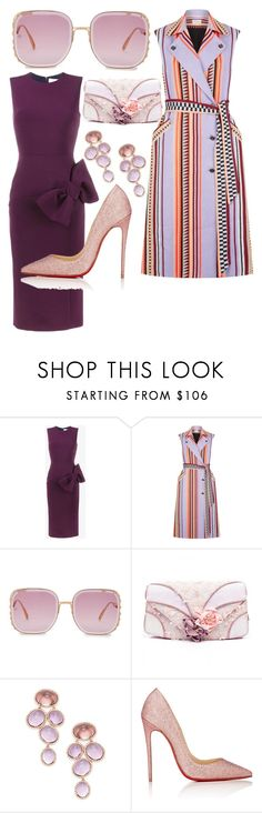 """Guess I Was Just Feeling Purple..."" by liyahlovespringles ❤ liked on Polyvore featuring Roksanda, Temperley London, Elie Saab, Irregular Choice, Rina Limor and Christian Louboutin"