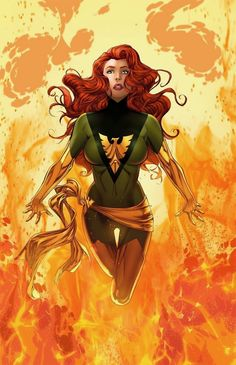 Jean Grey - Phoenix by Mike S. Miller, colours by Teodoro Gonzalez * Jean Grey Phoenix, Dark Phoenix, Phoenix Marvel, Phoenix Force, Phoenix Rising, Marvel Comics, Marvel E Dc, Marvel Girls, Marvel Heroes