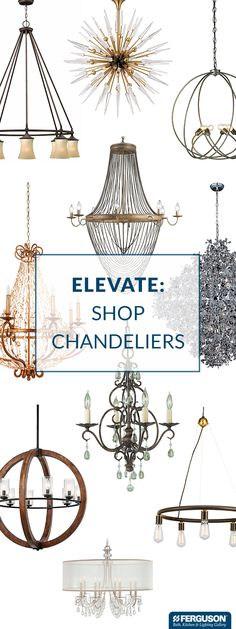 """Complete your dining room with a show-stopping chandelier from Ferguson Bath, Kitchen & Lighting Gallery. There's a chandelier for every style, whether you want classic elegance, bold contemporary or any look in between. A chandelier should be around 12"""" smaller in diameter than the width of the table it hangs over. Ideally, the bottom of the chandelier should be 30 inches above the surface of your table. One of our knowledgeable product experts can help you select the perfect size."""