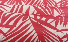 Palm Frond Outdoor Upholstery Fabric in Berry Pink has a tropical pattern perfect for the patio or a themed interior design. Durable and ready for high traffic, this is the perfect fabric for your deck this summer!