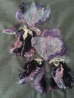 Irises - in progress.  Laura Edgar