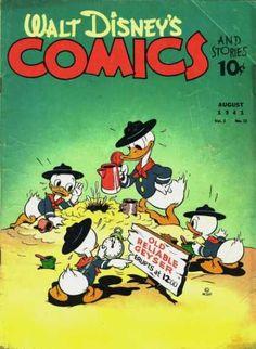 Donald Duck - Huey Duck - Dewey Duck - Louie Duck - Old Reliable Geyser