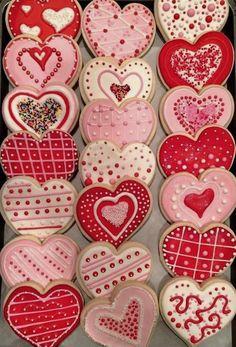Valentine Desserts, Valentines Day Cookies, Valentines Baking, Valentine Treats, Holiday Cookies, Summer Cookies, Birthday Cookies, Valentine Heart, Cookies Box