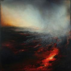 Mining: The Magma of Instinct VI Oils and Dutch gold leaf on panel 80cm x 80cm Marco Crivello