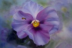Flower Painting DVD - Sweet Elegance Pansy - by Connie Clark Learn To Paint, Flower Painting, Painting Class, Online Art School, Painting Inspiration, Painting, Online Painting, Online Painting Classes, Art