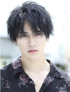 Japanese Men Hairstyle, Asian Men Hairstyle, Curly Hair Men, Curly Hair Styles, Korean Boys Hot, Boy Hairstyles, Stylish Hair, Male Face, Hair Designs