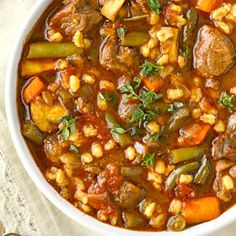 When people think of a hearty beef and barley soup, they often think of Grandma's house. My Grandma always served the best comfort food! Delicious warm bowls of soup, hot gooey casseroles, … Chili Recipes, Crockpot Recipes, Soup Recipes, Cooking Recipes, Healthy Recipes, Recipes With Beef Soup Bones, Recipies, Salad Recipes, Soup And Sandwich