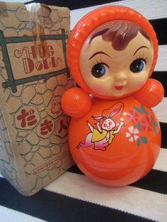 Kusukara Roly Poly doll in original box Hug Doll by katehartxoxo