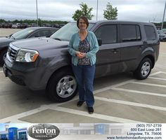 "https://flic.kr/p/t6ByP1 | Congratulations to Judy And Terry  Bowles on your #Honda #Pilot from Brian Vermillion at Fenton Honda of Longview! #NewCar | <a href=""http://www.fentonhondaoflongview.com/?utm_source=Flickr&utm_medium=DMaxxPhoto&utm_campaign=DeliveryMaxx"" rel=""nofollow"">www.fentonhondaoflongview.com/?utm_source=Flickr&utm_...</a>"