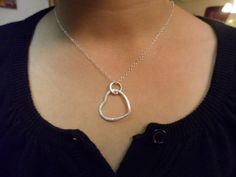 Sterling Silver Heart Necklace by weddingbellsdesigns on Etsy, $23.99