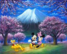 Walt Disney Mickey Mouse, Arte Disney, Mickey Mouse And Friends, Disney Love, Minnie Mouse, Disney Nerd, Godard Art, Pink Cherry Blossom Tree, Blossom Trees