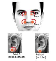 Acupressure therapy helps you get quick relief from stuffy nose or nasal congestion. Few days ago, during the change of season I became sick with flu symtoms, sore throat, fatigue and which lasted to stuffy nose. Health And Beauty Tips, Health And Wellness, Health Tips, Health Options, Health Remedies, Home Remedies, Natural Remedies, Flu Remedies, Allergy Remedies