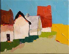 "Daily+Paintworks+-+""Neighbors""+-+Original+Fine+Art+for+Sale+-+©+Donna+Walker"