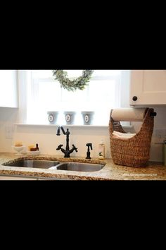 Magazine basket as a paper towel dispenser!