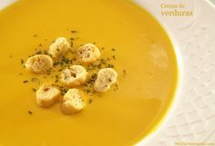 Crema de verduras - MisThermorecetas.com Green Diet, Spanish Dishes, Winter Soups, Canapes, Gluten Free Recipes, Soup Recipes, Good Food, Food And Drink, Clean Eating